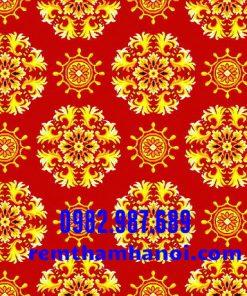 Thảm trải sàn hoa văn đỏ K1