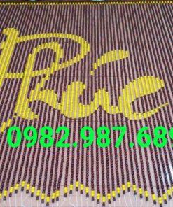 Rèm hạt gỗ chữ Phúc vàng Q1