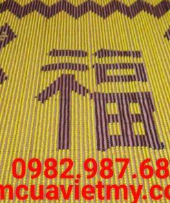 Rèm hạt gỗ chữ Phúc vàng Q2