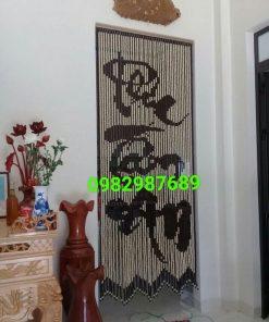 Rèm hạt gỗ K02 tại Hà Nội
