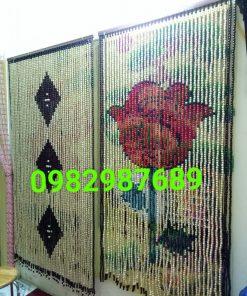 Rèm hạt gỗ hoa hồng tại Cầu Giấy - Hà Nội